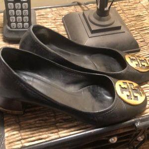 Tory Burch Chelsea black high heels shoes